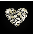 Heart a gear wheel vector image