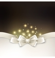Holiday light Christmas background with white silk vector image