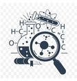 icon science day black vector image