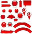 red metal glass kolekcija bre vector image