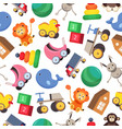 seamless pattern with colorful children s toys - vector image