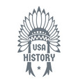 usa history logo simple style vector image