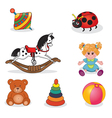 Set of babys toys elements vector image