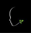 Organic Beauty logo vector image