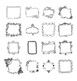 Set of hand drawn doodle frames vector image vector image