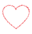 Red Hand Drawn Contour Thin Grunge Heart vector image