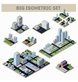 A large set of isometric city vector image