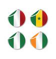 glossy theme national flag set vector image