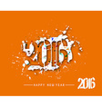 Happy new year 2016 vector image