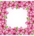 Peach blossom frame vector image vector image