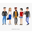 Creative team people Teamwork art director and vector image