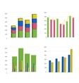 Bar chart graph vector image