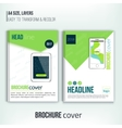 brochure cover design templates with tablet vector image