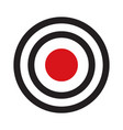 darts target aim with red center vector image