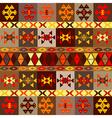 Etnic motifs background carpet with folk ornaments vector image