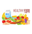 healthy food diet for life nutrition vector image
