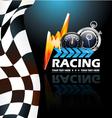 Racing poster vector image