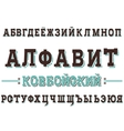 Western typefase on Russian modern cyrillic font vector image