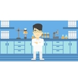 Male laboratory assistant vector image vector image