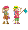 boy girl scout vector image vector image