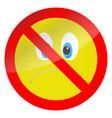 prohibition of bad mood symbol vector image