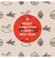 Christmas seamless hand-drawn pattern vector image
