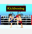 two boxer are fighting in boxing stadium vector image