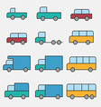 Vehicle car icons vector image vector image