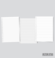 Collection of white note papers ready for your vector image vector image