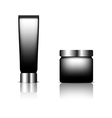 Cosmetic packaging black color designed vector image