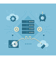 Online Backup and Storing Solutions vector image