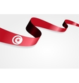 Tunisian flag background vector image vector image