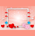 abstract with heart shape and frame for copy vector image