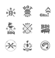 Barbeque labels or logos vector image