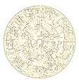 Golden Maze Circle maze vector image