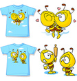 kid shirt with cute bees - isolated on white back vector image