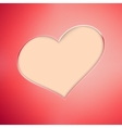 Red Valentines Day background EPS10 vector image