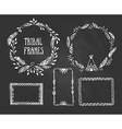 Set of wreaths and frames with place for your text vector image