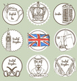 Sketch United Kingdom icons vector image