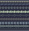 textile seamless pattern on dark background vector image