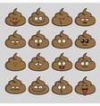 Poop Cute Cartoon Emoji Set vector image