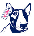 bull terrier hot dog vector image