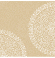 doilies on beige background vector image vector image