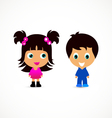 Little children vector image