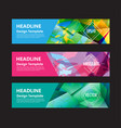 banner abstract colorful polygon background vector image