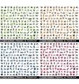 660 bicolor icons vector image vector image
