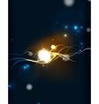 Glowing flowing waves and stars in dark space vector image