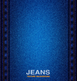 jeans material seams textured background vector image