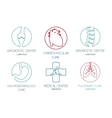 Set of logos on a medical theme vector image
