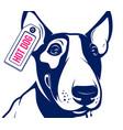 bull terrier hot dog vector image